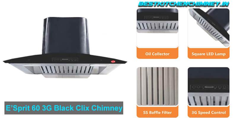 E'Sprit 60 3G Black Clix Chimney